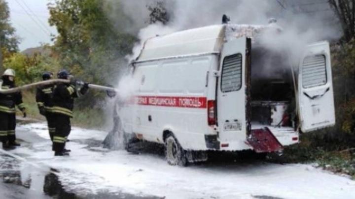 Во Владимирской области загорелась машина скорой помощи