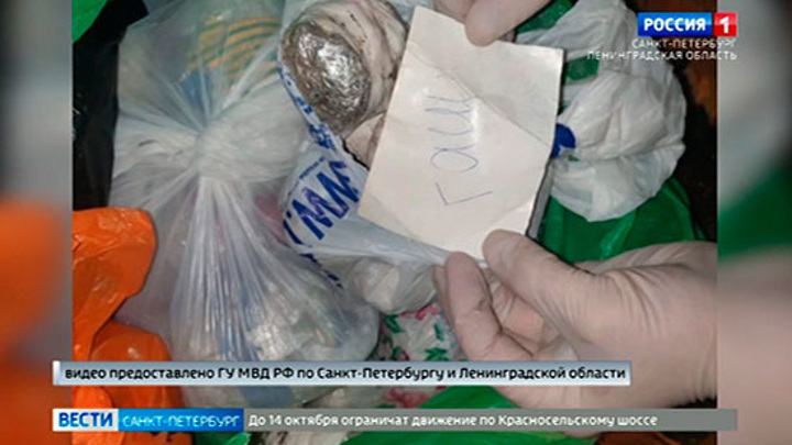 В Петербурге задержали наркокурьера с 10 кг запрещенных веществ