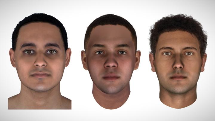 Судебно-медицинская реконструкция внешности мумий JK2911, JK2134 и JK2888.