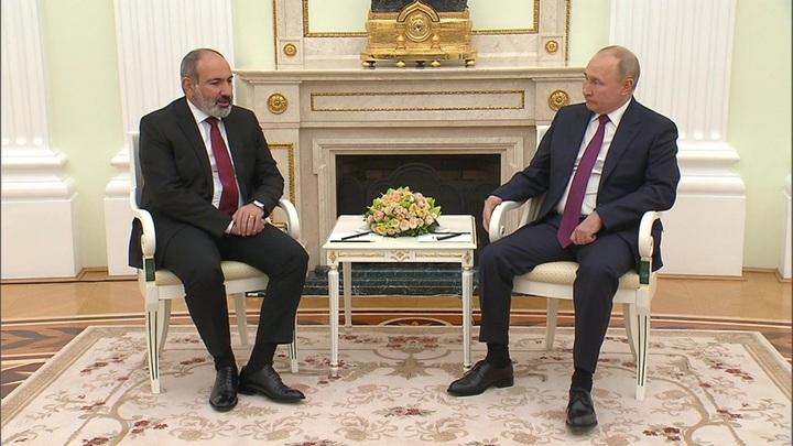 Путин и Пашинян встретились в Кремле