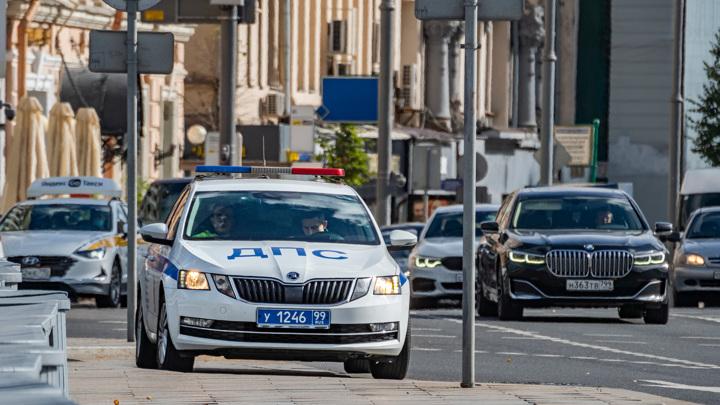 Неколько машин столкнулись в центре Москвы