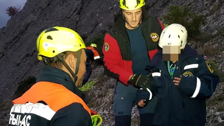 8-летний мальчик застрял на скале Карпуз-Кая в Крыму