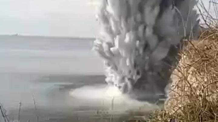 При ликвидации бомбы под Новороссийском пострадали жилые дома