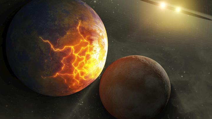 В недавнем прошлом в соседней планетной системе произошло из ряда вон выходящее событие.