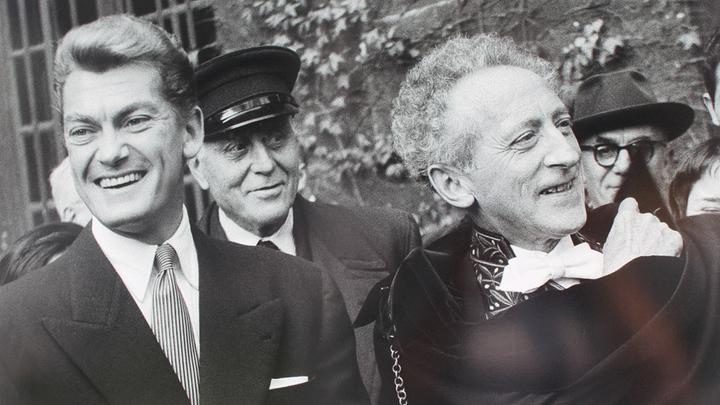 Жан Маре и Жан Кокто, автор первого международного послания в честь Всемирного дня театра, 1961 год.