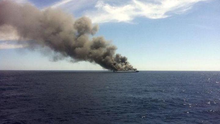 Иранское судно повреждено взрывом в Средиземном море