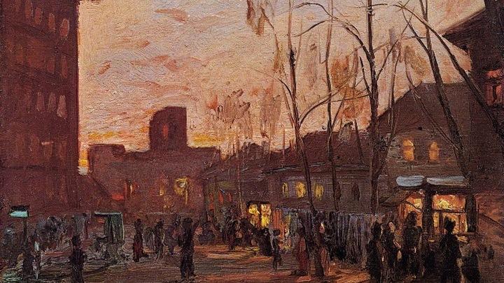 """Николай Ромадин """"Ларьки на Масловке"""", 1938"""